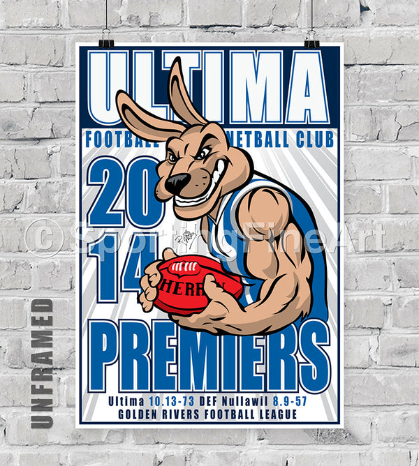 Ultima Football Club 2014 Premiership Poster