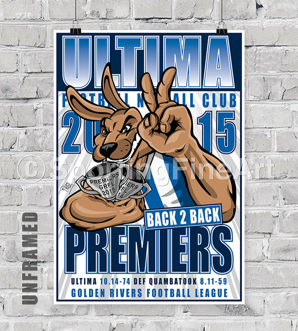 Ultima Football Club 2015 Premiership Poster