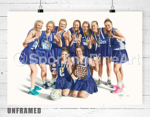 Ultima Netball Club Premiership Fine Art Print