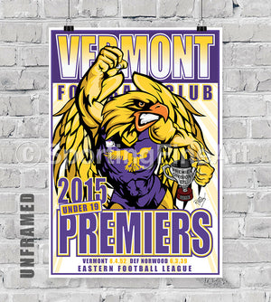 Vermont Football Club U19 2015 Premiership Poster