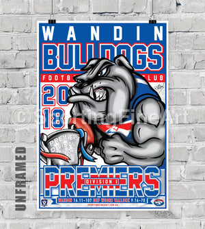 Wandin Football Club 2018 Premiership Poster
