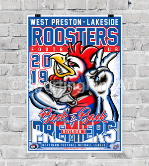 West Preston-Lakeside FC 2019 Premiership Poster