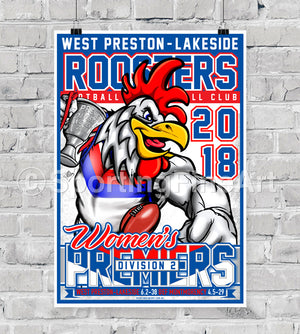 West Preston-Lakeside Women's FC 2018 Premiership Poster