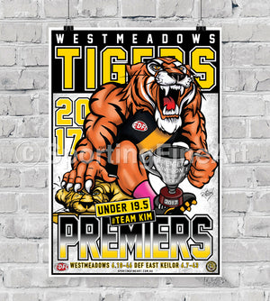 Westmeadows Football Club Under 19s 2017 Premiership Poster