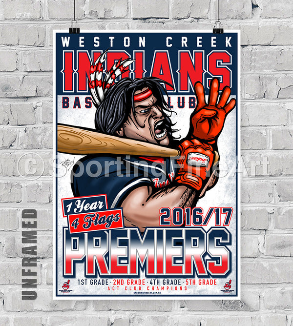 Weston Creek Baseball Club 2016/17 Premiership Poster