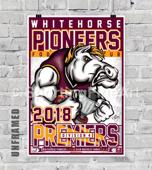 Whitehorse Pioneers Football Club 2018 Premiership Poster