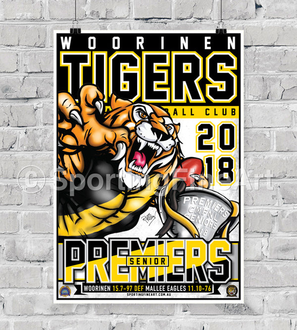 Woorinen Football Netball Club 2018 Premiership Poster
