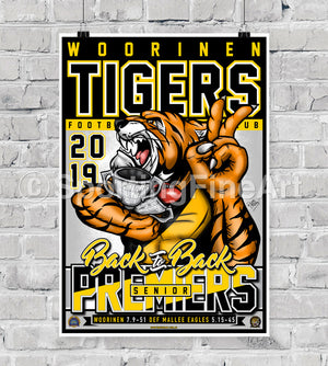 Woorinen Football Club 2019 Premiership Poster