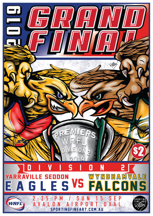 WRFL Division 2 Grand Final Poster