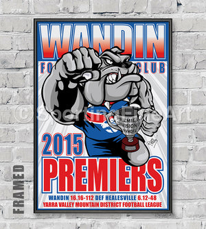 Wandin Football Club 2015 Premiership Poster