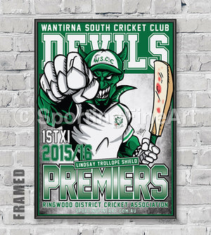 Wantirna South Cricket Club 2015/16 Premiership Poster