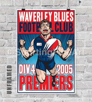 Waverley Blues Football Club 2005 Premiership Poster