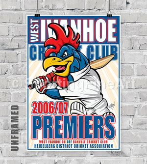 West Ivanhoe Cricket Club 2006/07 Premiership Poster