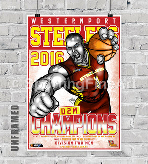 Westernport Steelers 2016 Championship Poster