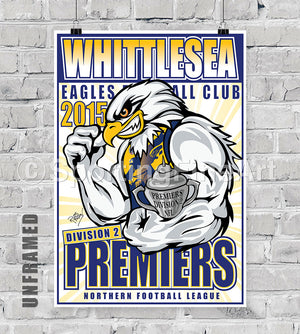 Whittlesea Football Club 2015 Premiership Poster