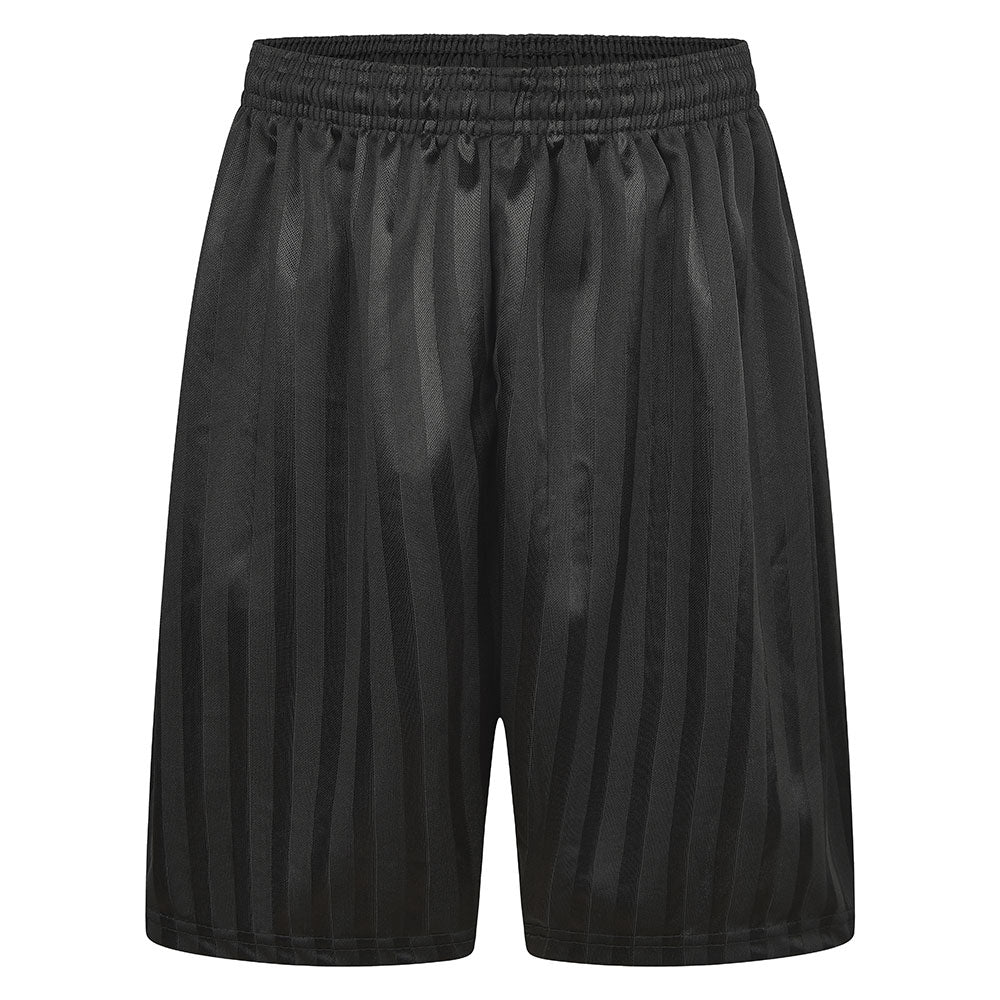 Black striped Bridge Academy PE shorts