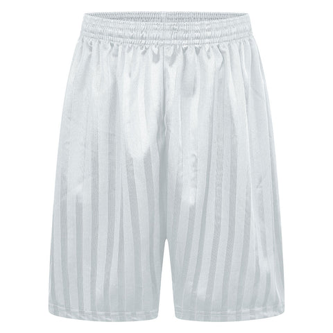 White striped Mossbourne boys PE shorts