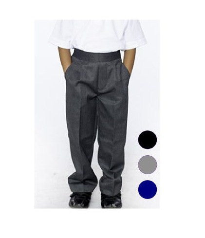 Black Junior Boys School Trousers