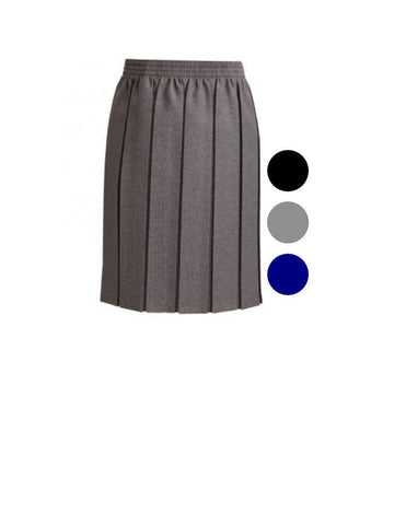 Grey Junior Girls Box Pleat skirt