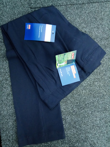 Navy girls slim trousers