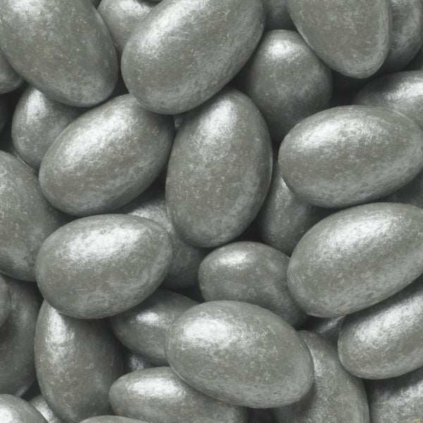 Lustrous Silver French Almonds