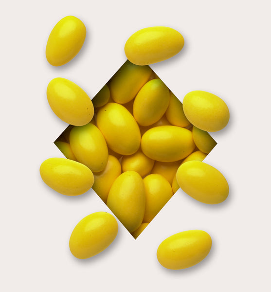 Yellow Candy Coated Chocolate Almonds