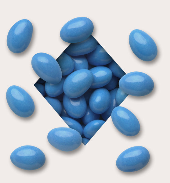 Mid Azure Blue Candy Coated Chocolate Almonds