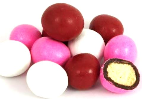Red, White & Pink Candy Coated Dark Chocolate Malted Milk Balls (Valentine's Day)