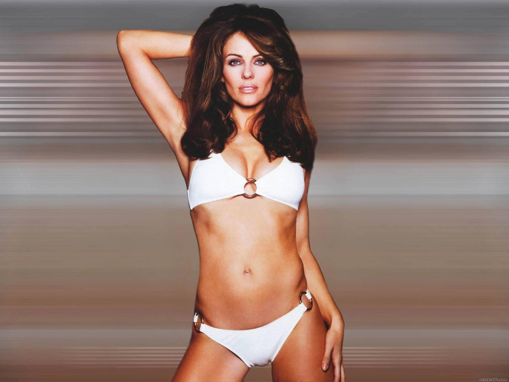 In third place - its the gorgeous Elizabeth Hurley!