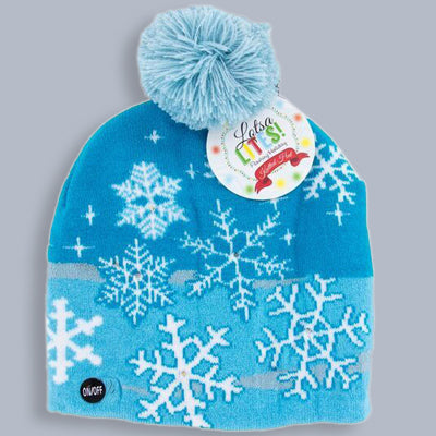 Snowflake knitted light up hat