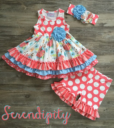 Serendipity Ruffle Dress & Ruffle Shorties