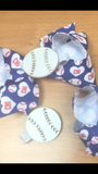 Wee Ones CHI Baseball Hair Bow