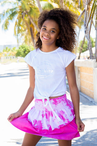 Under The Boardwalk Tie Dye Ruffle Skirt