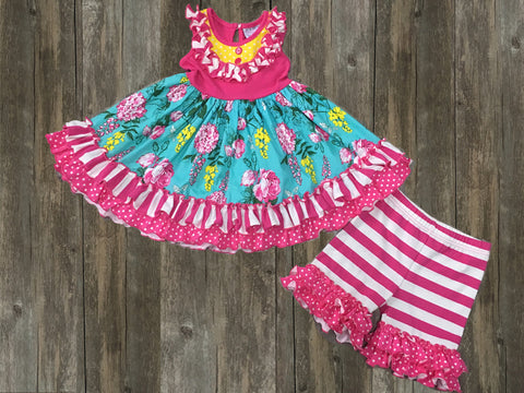 Serendipity Bib Ruffled Dress And Ruffle Shorts