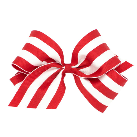 Wee Ones Red And White Stripe Hair Bow