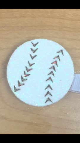 Wee Ones Baseball Sequin Hair Clip