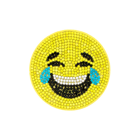 Wee Ones Large Crystal Bling Emoji Crying Hair Clip