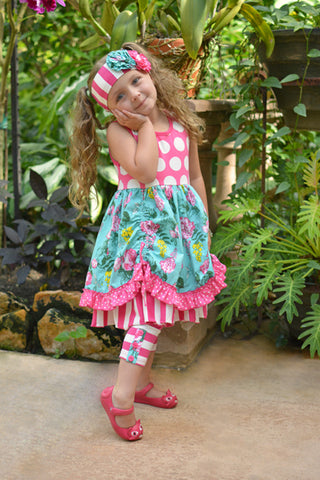 Serendipity Drawstring Dress And Capris