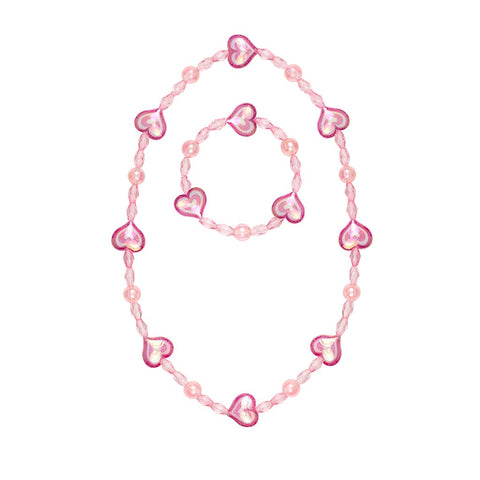 Cotton candy necklace and bracelet set