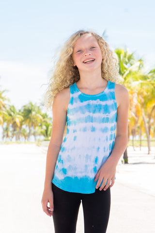 Under The Boardwalk Tie Dye Bow Back  Tank