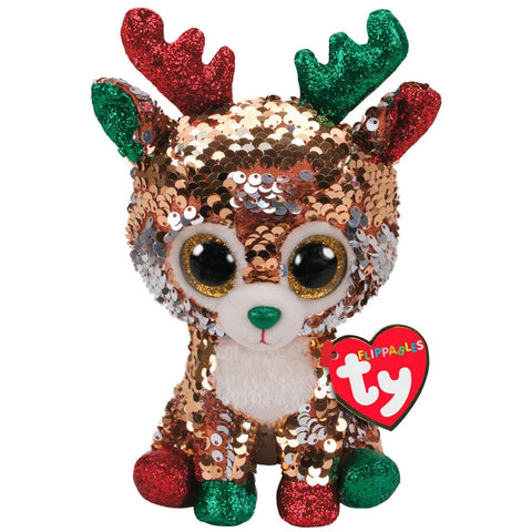 Ty Tegan Flippables Reindeer small