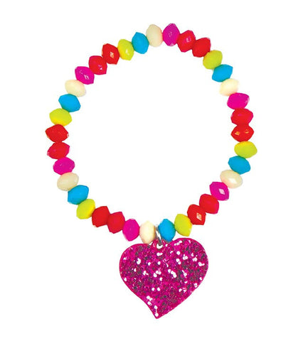 Sparkle Spirited Heart Bracelet