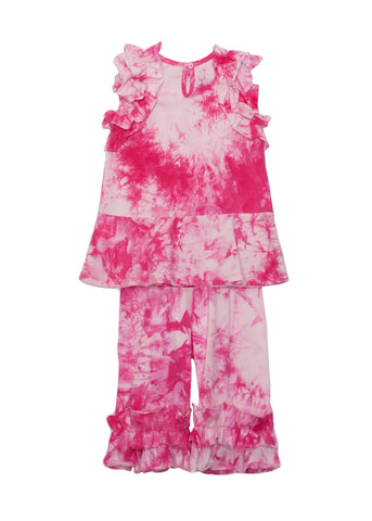 Isobella and Chloe Pink Tie Dye 2 Piece Set