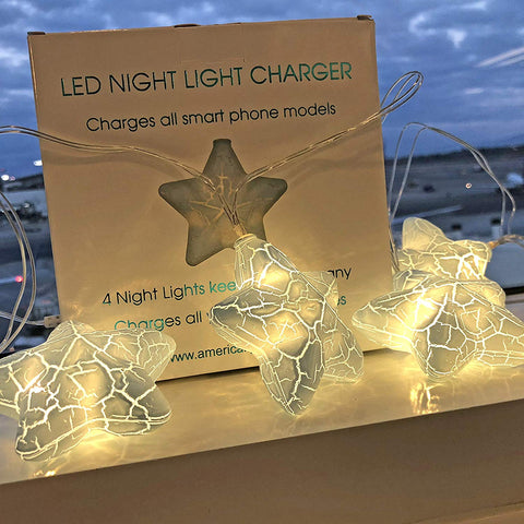 Star Led Night Light Phone Charger