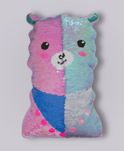 IScream Llama Reversible Sequins PIllow
