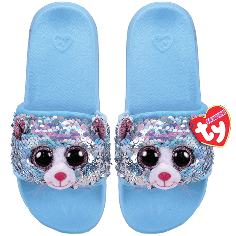 TY Whimsy Reversible Sequin Cat Slides