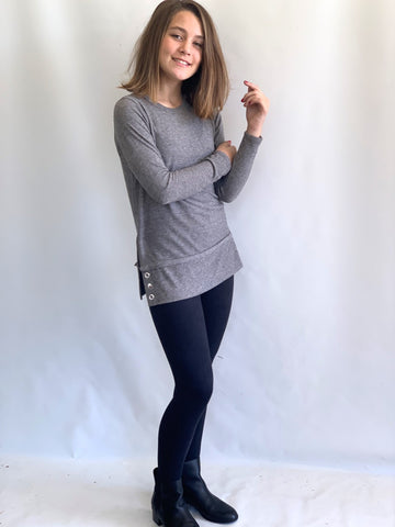 Area Code 407 Grey Grommet Tunic