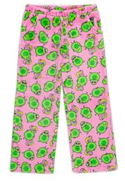 Candy Pink Avocado Fleece Pant