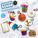 Squishy Squad Backpack Clips