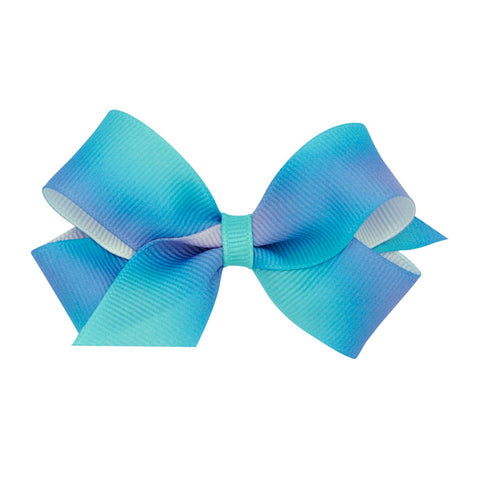 Wee Ones Medium Size Blue Ombre Bow